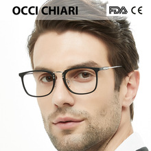 Moda coreana óculos de olho quadro lente clara óculos ópticos preto azul óculos armações occi chiari oc2002