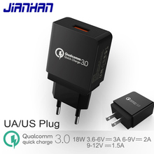 QC 3.0 USB Charger EU US Plug 18W Quick Charge 9V2A High Quality For Samsung S8 S9 Xiaomi mi 8 Fast Phone