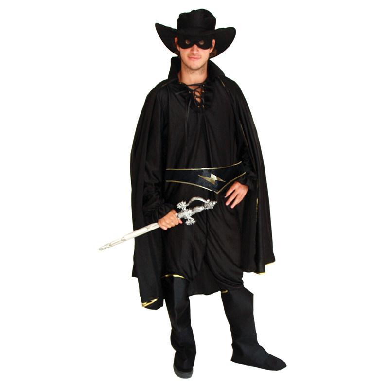 Umorden Purim Party Carnival Halloween Masked Knight Hero Zorro Costumes Disfraces Adulto Bandido Costume Cosplay Set for Men