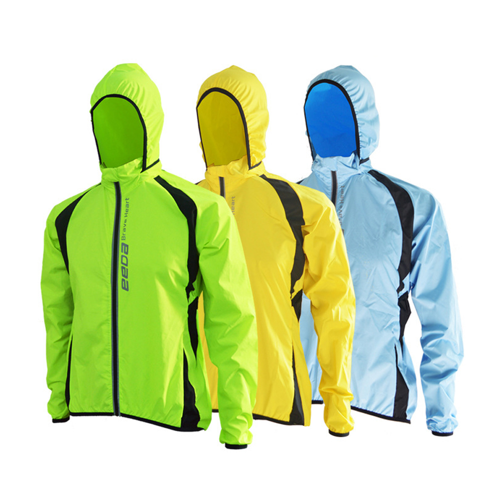Bike Cycling Men Windproof Rain Coat Bicycle Riding Long Sleeve Wind Hooded Jackets S XXXL