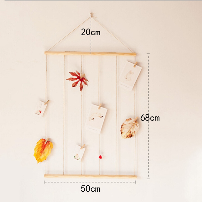 2018 Multi Wall Hanging Picture Frames Set Collage Photos Display With Wooden And Rope ...