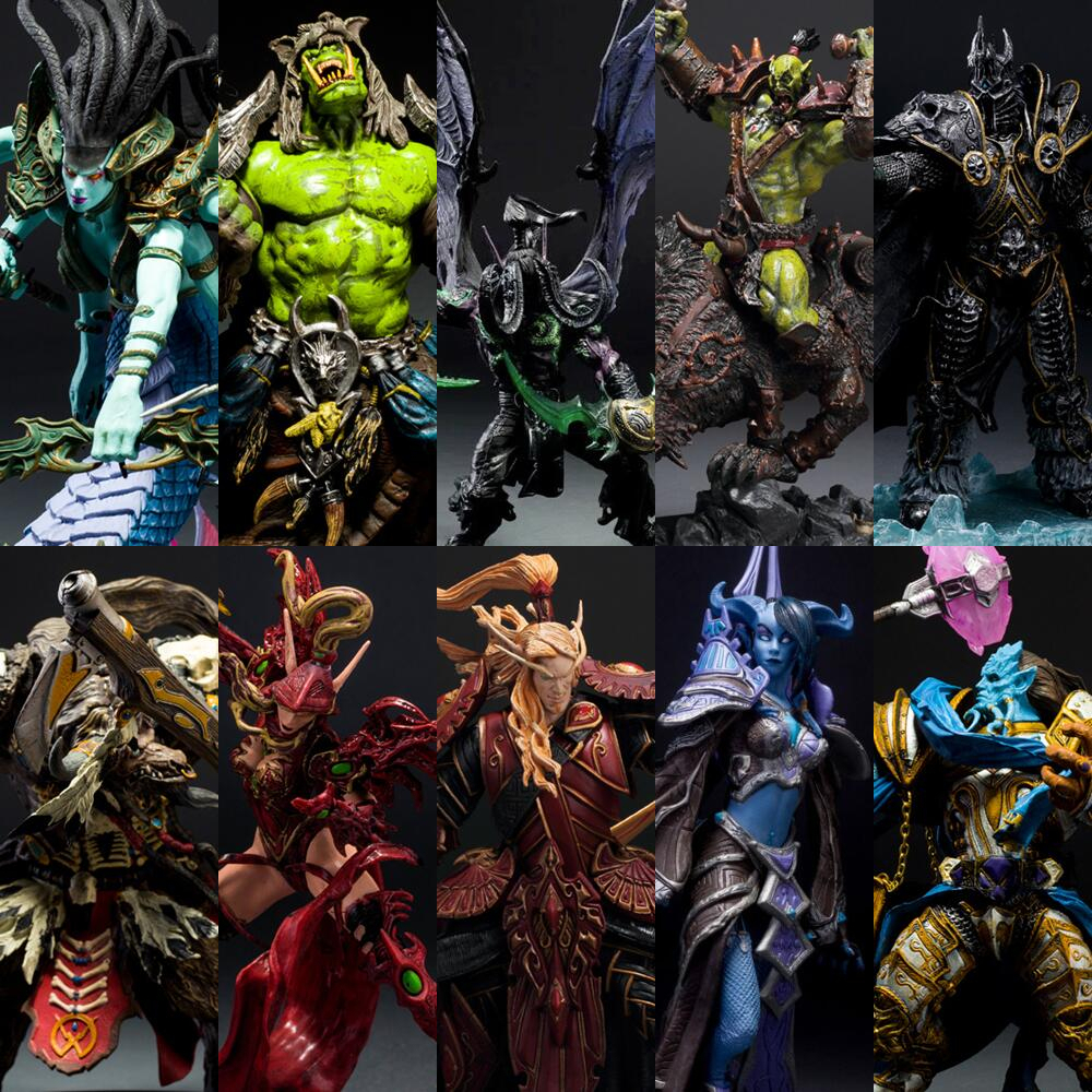 Illidan Vashj Undead Warlock Blood Elf Rogue Arthas Sylvanas Human Priestess Night Elf Hunter Neltharion PVC Action Figure Toy 90 corner clamp shopify