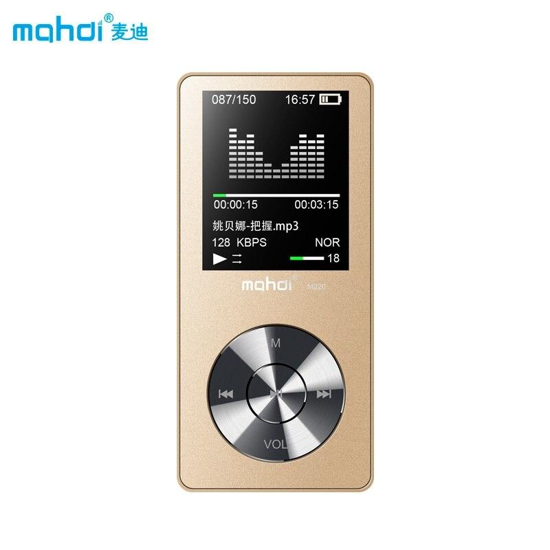 Mahdi M320 Mp3 Player 8 Gb Presse Bildschirm Metall Hifi Verlustfreie Audio Musik Player Eingebauter Lautsprecher Unterstützung Fm Radio Player Hifi-player