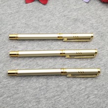 Golden gifts for golden wedding 30pcs roller ball pen custom free with your date and wishes
