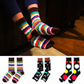 Cotton Gentlemen Leisure Men's Socks Fashion Colorful Jacquard Funny Dot Novelty socks calcetines hombre chaussette homme