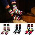 Señores Ocio Calcetines de Los Hombres de Moda de algodón Jacquard Colorido Divertido Dot Novedad calcetines chaussette calcetines hombre homme
