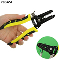 PEGASI Portable Wire Stripper Pliers Crimper Cable Stripping Crimping Cutter Hand Tool with Manganese Steel for Electrical BXQ00