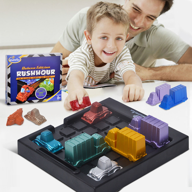 Colorful Car Board Game Puzzle Automobile Race IQ Car Teaser Games High Quality ABS Plastic Education Game For Kids