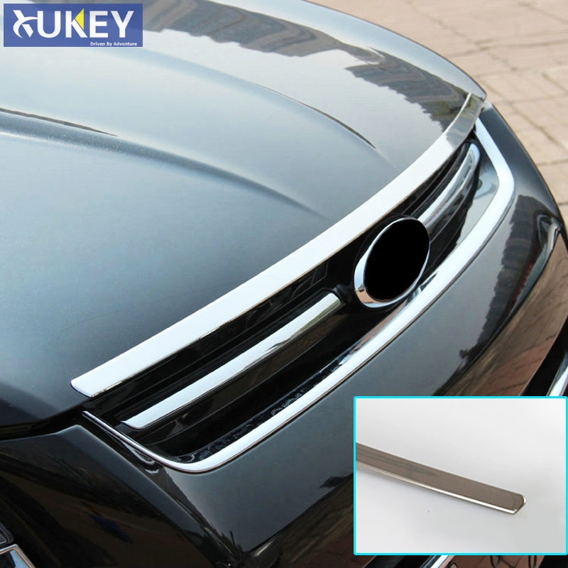 FIT FOR 2013 2014 2015 2016 FORD ESCAPE KUGA CHROME FRONT HOOD BONNET MESH GRILLE GRILL LIP BAR TRIM COVER GARNISH MOLDING STRIP