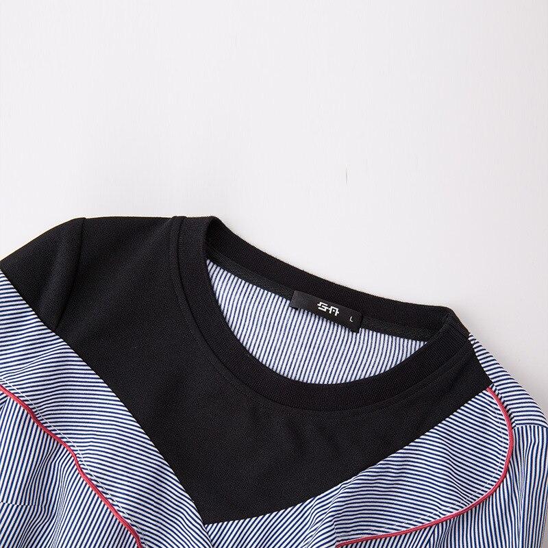 b3828a49b639d1 new autumn plus size 2 piece set women 5xl lotus leaf stripes patchwork two  sets blouse + skirt conjunto feminino saia e blusa-in Women's Sets from  Women's ...