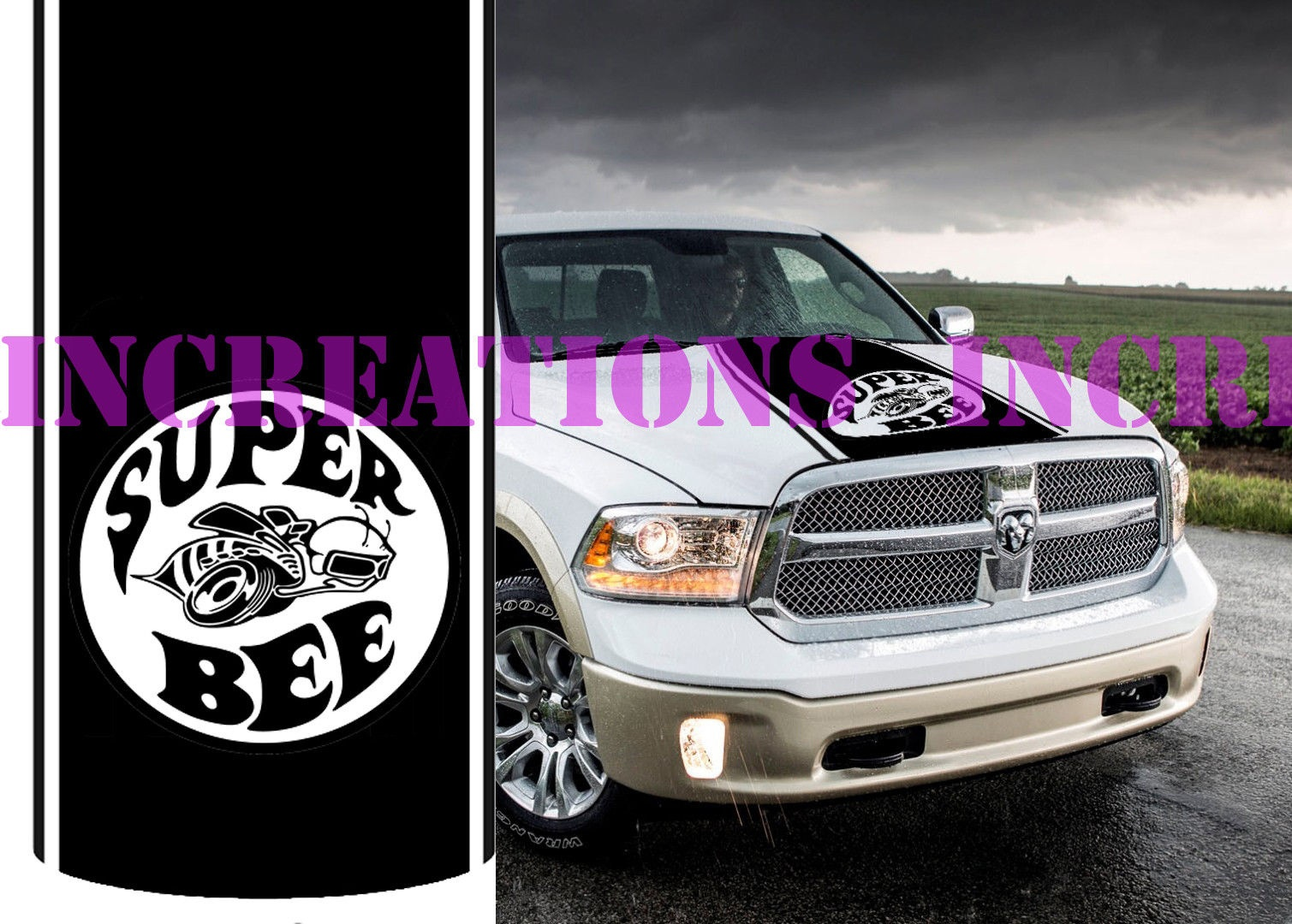 medium resolution of for universal super bee dodge ram hemi rebel sport hood stripe vinyl decal truck racing in car stickers from automobiles motorcycles on aliexpress com