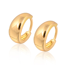 GUSSIARRO Free Shipping Wholesale Smooth Yellow Gold-Color Woman's Hoop Earrings No Nickel