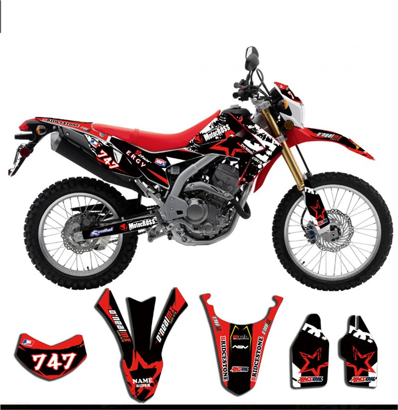Bike Motorcycle TEAM DECALS Graphics Stickers Background Kit For Honda CRF250L CRF 250L 2010 2011 2012 2013 2014 2015 2016-in Decals & Stickers from Automobiles & Motorcycles    1