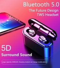 X8 TWS Bluetooth Earphone 5D Stereo Wireless Earbuds Mini Waterproof Headfrees with 2200mAh Power Bank Ea