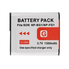 1PCS 3.7V 1300mAh NP-BG1 NP-FG1 Replacement Digital Camera Battery for Sony DSC-H3 DSC-W55 NP-BG1 NP-FG1 Battery Li-ion Batteria