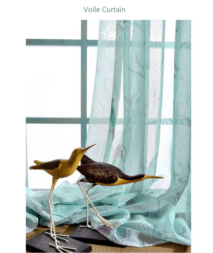 Vorhänge für schlafzimmer Blau Grün muster Blackout Fenster ...