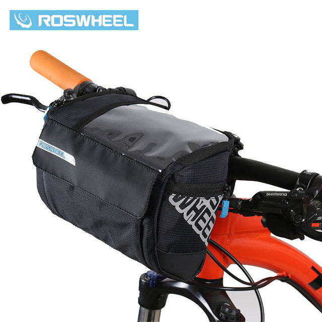Roswheel 3l Bicycle Handlebar Bag Mtb Road Cycling Front Bar Pannier Pouch 400d Pvc Map Bags