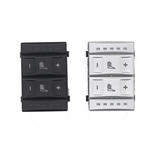HETW New Silver&Black Seat Heater Button Heating Switch Control for Ford Mondeo MK3 S-MAX