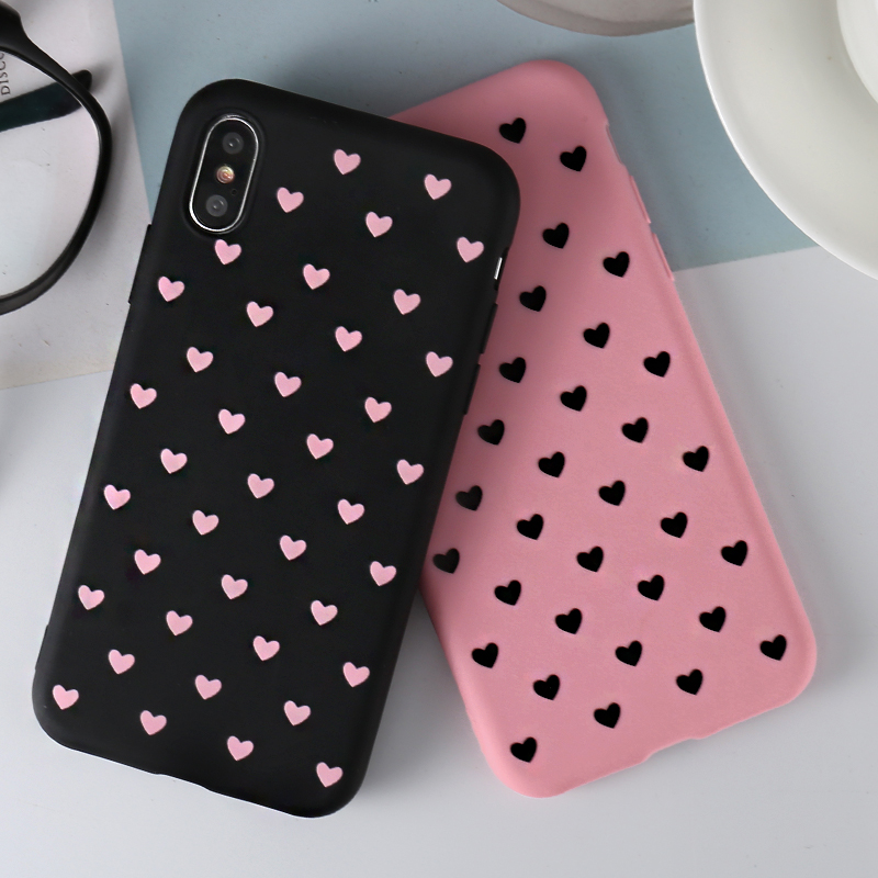 Love Heart Phone <font><b>Case</b></font> For Huawei Y6 Y5 Prime 2018 P20 P9 P10 Mate 10 Lite <font><b>Honor</b></font> 10 9 Lite 7C 7A Pro <font><b>8X</b></font> <font><b>Max</b></font> 8C P Smart 2019 <font><b>Cases</b></font> image
