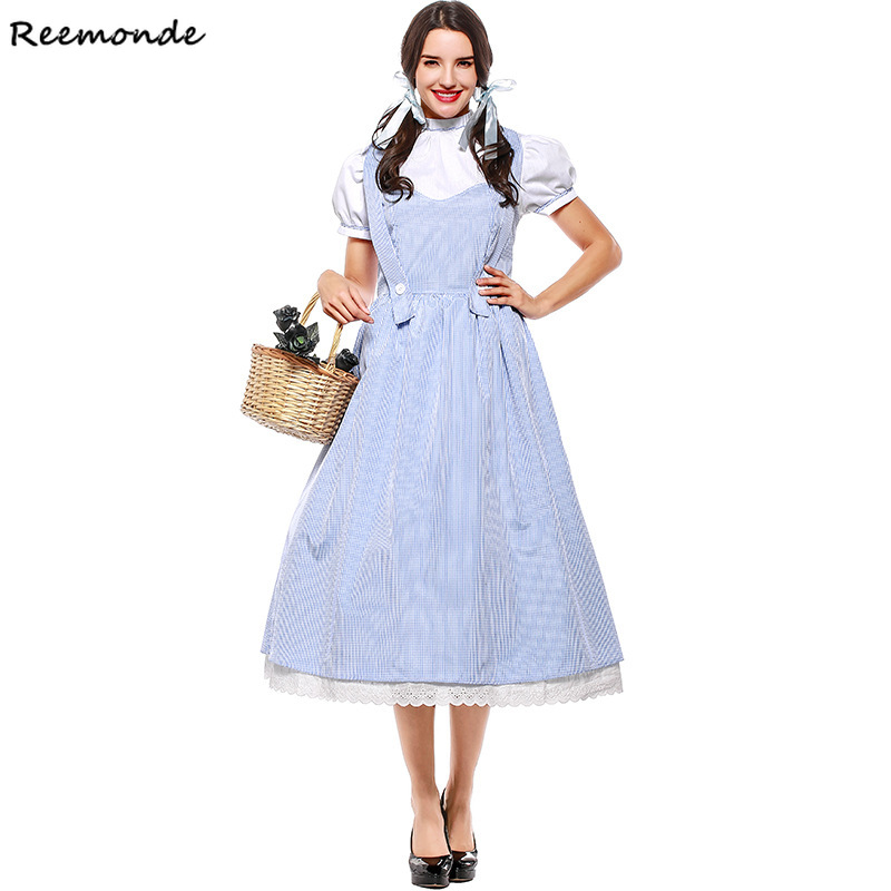 Anime The Wizard OZ Princess Cosplay Costumes Dorothy Kansas Dresses Skirt Maid For Women Girls Dance Party Halloween Clothes
