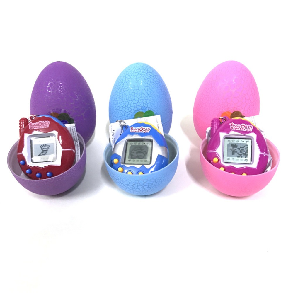 New Flash Crack Egg Electronic Game Machine Virtual Pet Video Game Console drop shipping