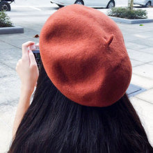 beret woman for women wool female berets solid color