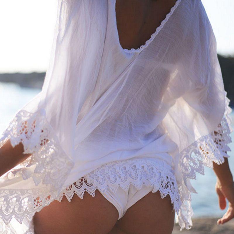 ab3305808ffe3 New Women Bikini Cover Up Lace Hollow Crochet Swim Suit Swimwear Beach Dress