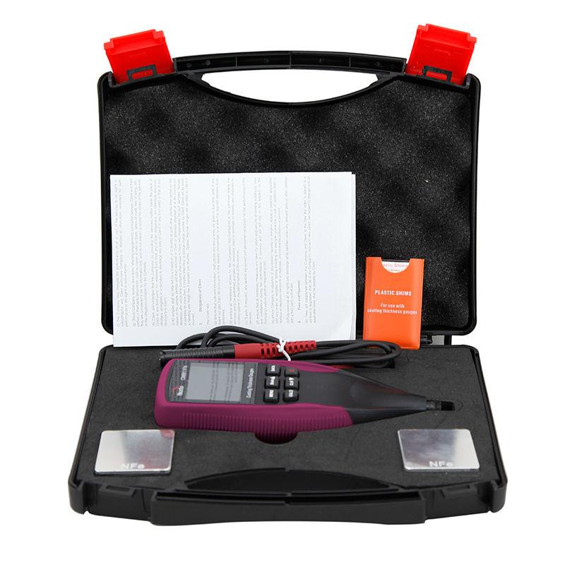 Profissional Fe/NFe Backlight LCD Digital Medidor de Espessura de Revestimento Pintura Do Carro Espessura Medidor 0-1250um CM8811FN Sonda Separado