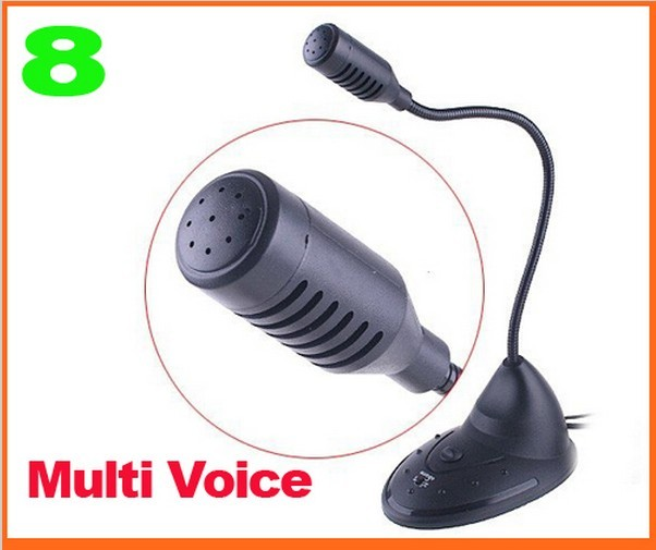 Usb 8 multi voice changer microphone mic disguiser on
