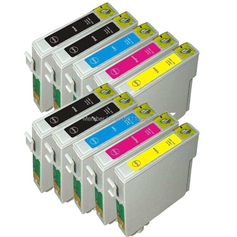 10pk compatibele inktcartridges voor stylus SX205 SX210 SX400 SX405 - Office-elektronica