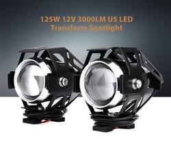 مستطيل دراجة نارية المصباح LED 2 pcs 10 W 12 V 3000LM U5 الألومنيوم سبائك عالية سطوع تحويل الضوء العالمي