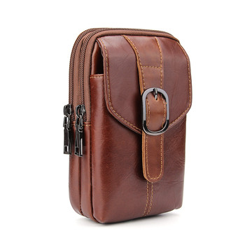 New Vertical Belt Clip Loop Holster Phone Pouch Case For iPhone 7 Plus 6 6S Plus Genuine Leather Bag 6.3 inch Waist Bag Case