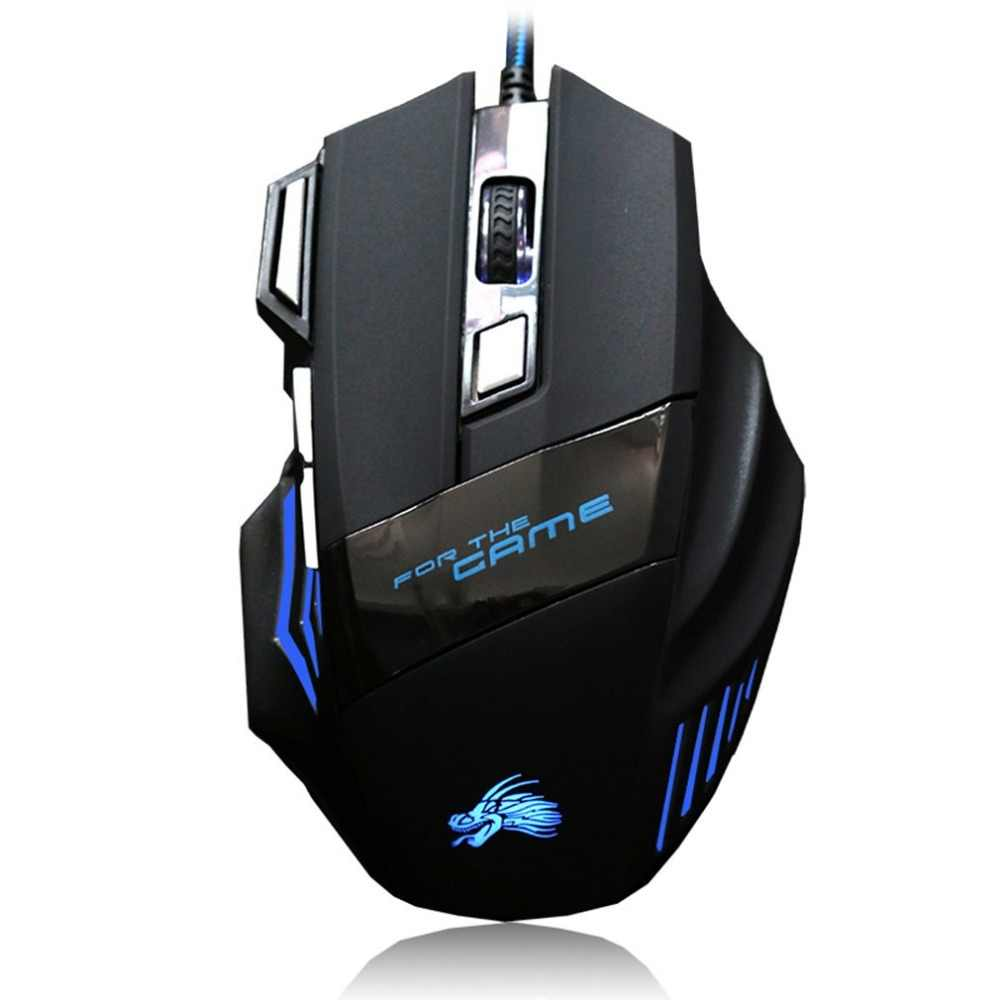 Professional Wired Gaming Mouse LED Mouse 7 Button 2500dpi LED Optical USB Computer Mouse Gamer Mice Game Mouse