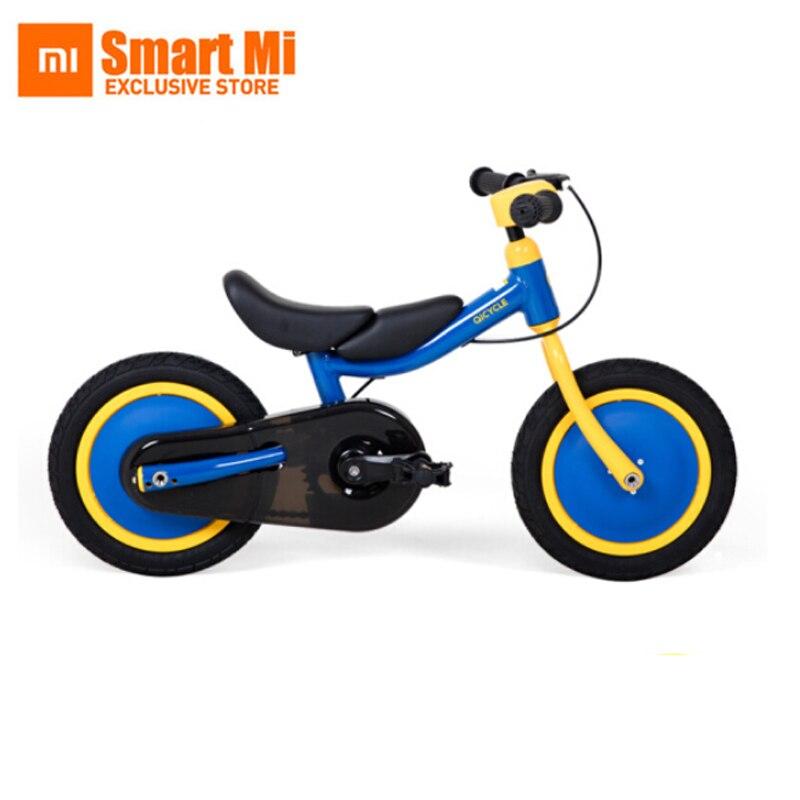 Xiaomi MiJia QiCycle Vélo Tricycle Scooter 12 pouce pour Enfants Jaune Couleur Slide & vélo À Double Usage