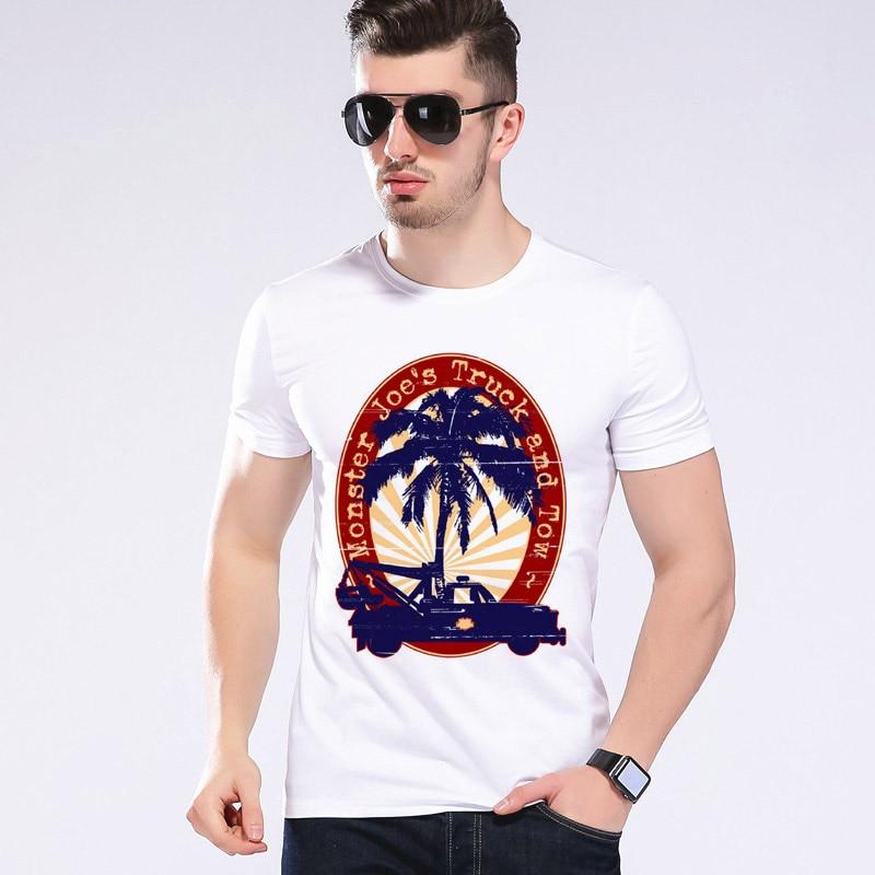 Top brand casual men truck clothes tshirt cartoon printing for T shirt printing hawaii