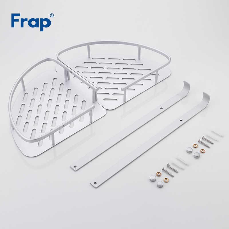 FRAP łazienka półki New Arrival nowoczesny styl do montażu na ścianie przestrzeń aluminium uchwyt na szampon prysznic kosze akcesoria łazienkowe