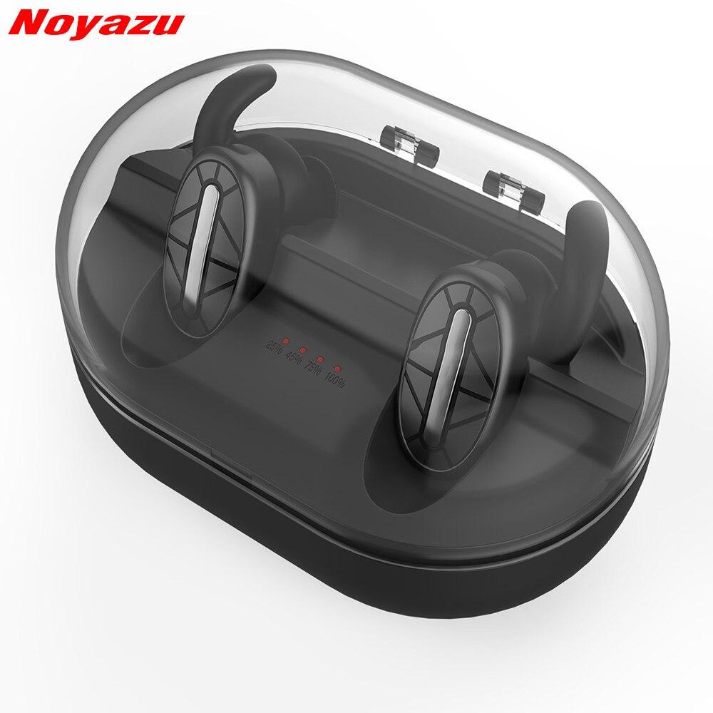 Noyazu Bluetooth 4.1 Earphone Noise Reduction Bluetooth Headset for Mobile Phone Wireless Sports Bass Earphone Music Headset