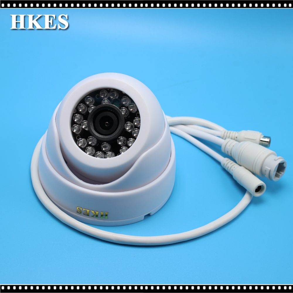 HKES New Audio IP Camera Video Surveillance Security CCTV Camer Network IR Dome IP Cam with external microphone ноутбук hp 15 ba503ur e2 7110 1 8ghz 15 6 4gb 500gb r2 w10 home 64 grey x5d86ea