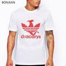 Dracarys Game Of Thrones tshirt men harajuku Vintage style T shirt Camisetas hombre T-shirt Men Clothing 2019 tee homme