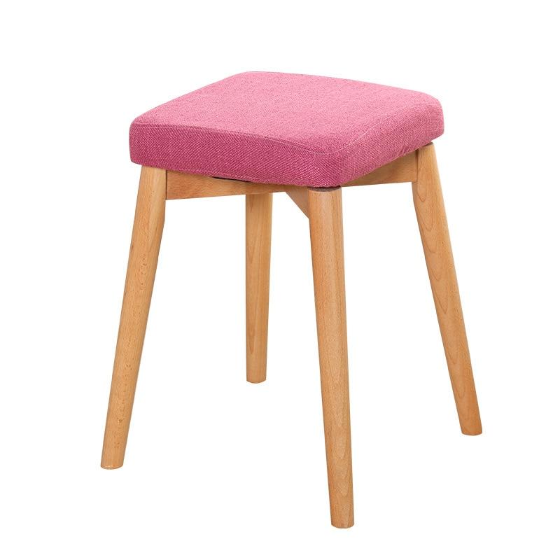 New Modern Househoold Waterelm Wooden Cloth Art Chair Kids Foot Stool Wood Small Bench Makeup Eat Sofa Furniture