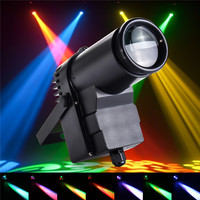 Smuxi 30W DMX LED Stage Light RGBW Pinspot Light Beam Spotlight 6CH For DISCO KTV DJ