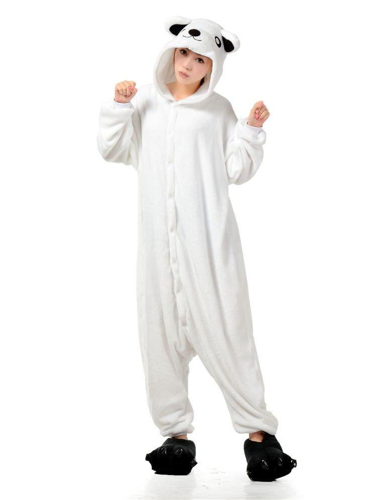 7fc805543 Polar Bear Onesies Unisex Sleepsuit Adult Pajamas Kigurumi Onesie Cosplay  Costumes Animal Jumpsuit NightgowParty dress
