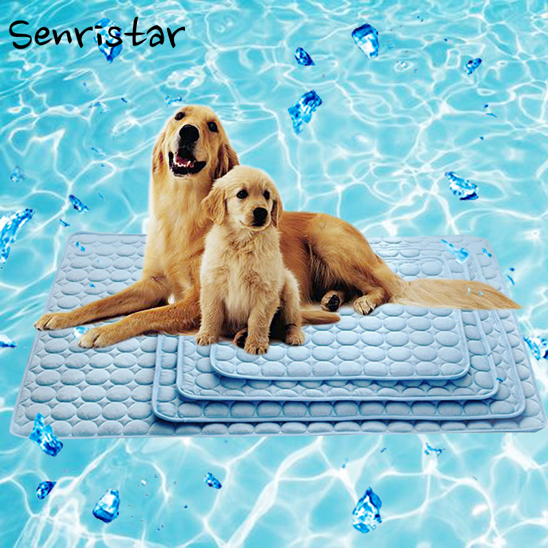 Summer Cooling Dog Bed Mat For Small Medium Large Dog Cat For Pet Nest Floor Sofa Cool Ice Silk Dog Pad Pet Mattress Cushion