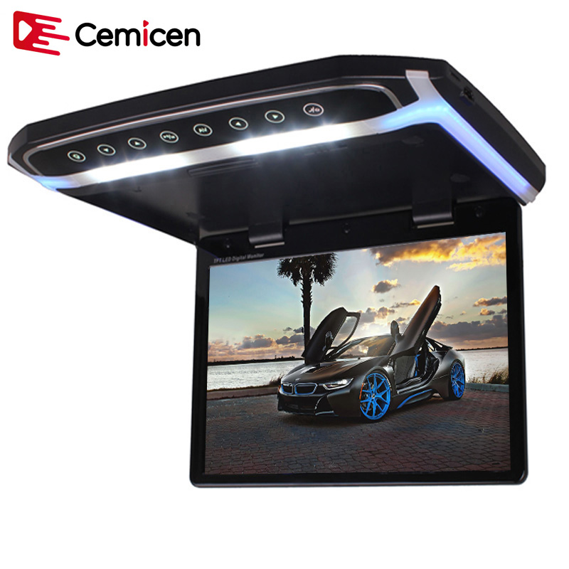 Cemicen 17.3 Inch Car Roof Mount Monitor Flip Down TFT LCD