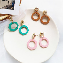 Unique design is contracted hexagon earrings geometric exaggerated women wholesale and elegant girl