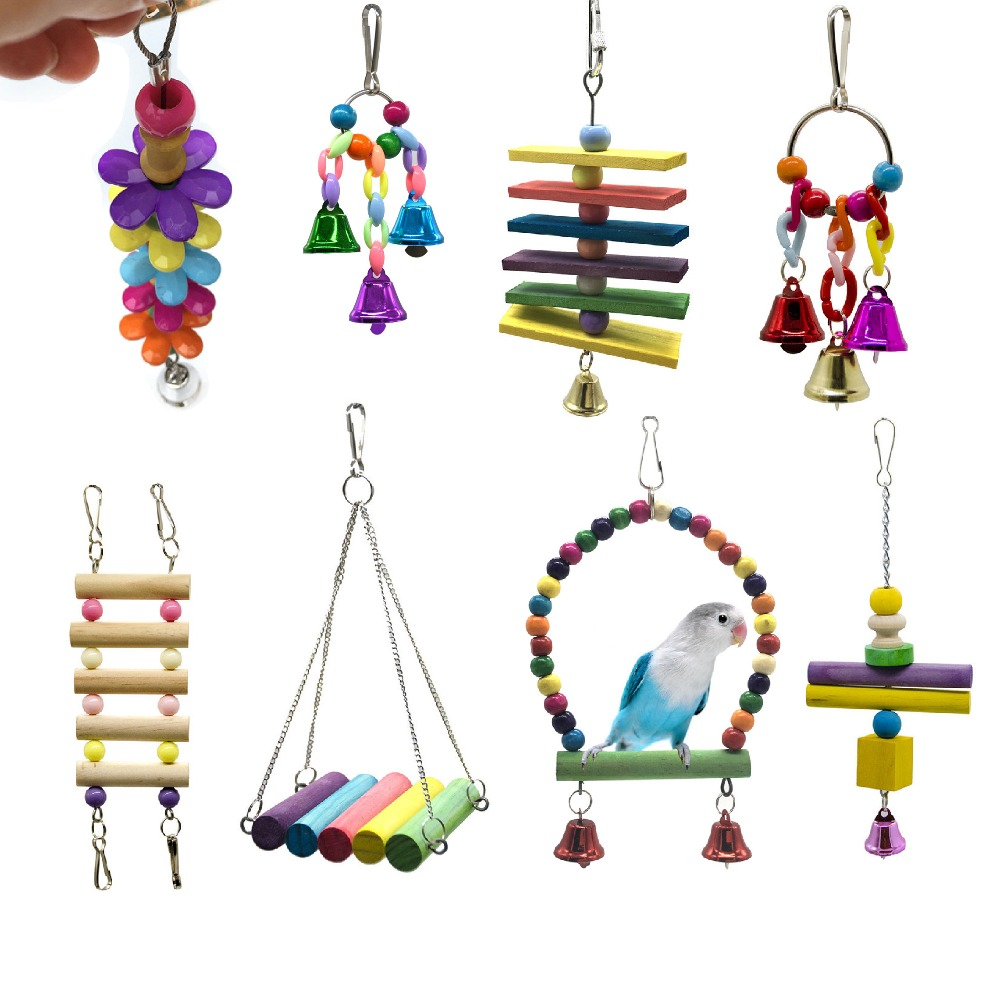 Buy 1 pcs Bird Bite Hanging Ornaments Bird Supplies Attachment Training Supplies Various Bird Cages Accessories Birds Chew Toys for only 1.95 USD
