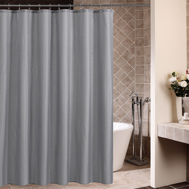 High Quality Mosaic Plaid Waterproof Bathroom Shower Curtain Fabric Thicken New