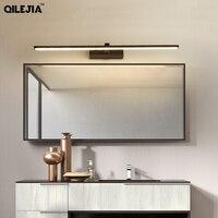 Led 미러 라이트 벽 램프 욕실 방수 화이트 블랙 led 플랫 램프 현대 실내 벽 램프 욕실 조명 메이크업 거울 LED 실내용 벽 램프 등 & 조명 -
