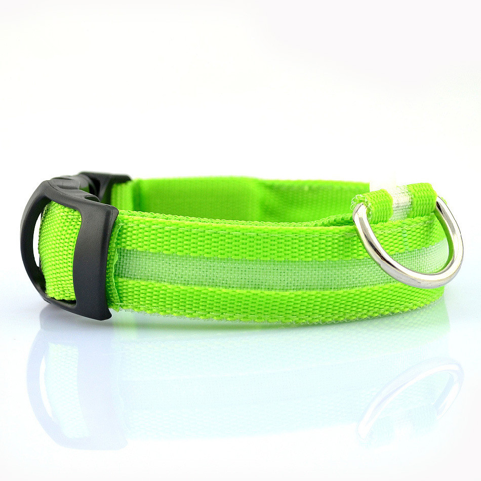 Nylon Pet Dog Collar Led Light Night Safety Glowing Pet Supplies Cat Led Dog Collar Pet Accessories For Small Dogs Led Collars #4