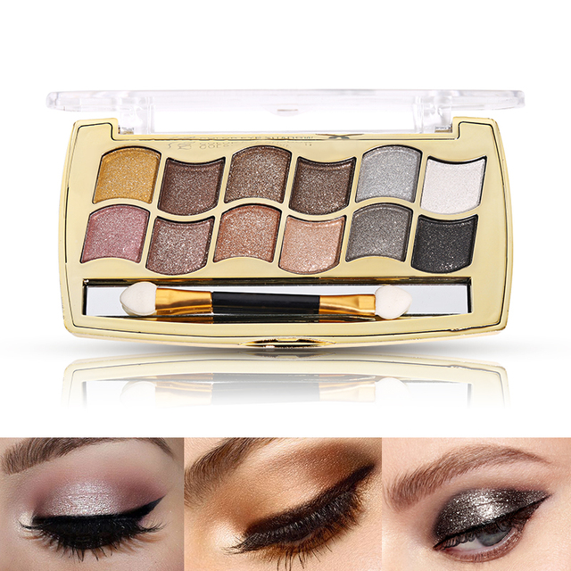 High Quality Professional 3D Eye Shadow Glitter 12 Colors Diamond eyeshadow  palette eyes makeup Nude Shimmer 1adf6cf3c61d